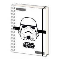 Disney Star Wars keményborítós gumis A5-ös spirálfüzet Birodalmi Rohamosztagos