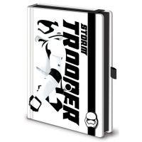 Disney Star Wars bőrkötésű gumis A5-ös prémium jegyzetfüzet E7 Stormtrooper