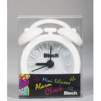 Btech mini szilikon ébresztőóra fehér színben