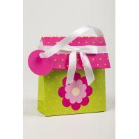 Btech mini zsebes ajándéktasak, virágos