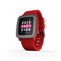Pebble Time okosóra piros színben