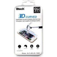 Btech Üvegfólia iPhone 6/6S/7/8 Plus 3D ívelt üvegfólia fehér