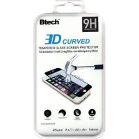 Btech ÜvegfóliaiPhone 6/6S/7/8 Plus 3D ívelt üvegfólia fekete