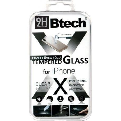 Btech Üvegfólia iPhone X Back védőfólia