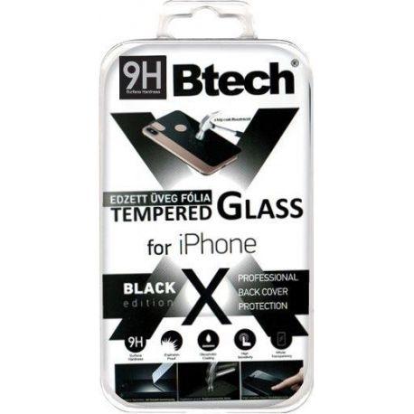 Btech Üvegfólia iPhone X Back Fekete Védőfólia