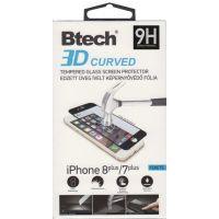 Btech Üvegfólia Iphone 7/8+ 3D fekete