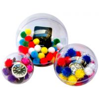 Btech ajándékrejtő műanyag dekor gömb, nagy (14 cm)