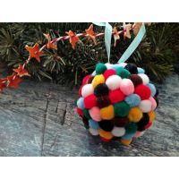 Btech Karácsonyi csillámos pompom 1,5 cm