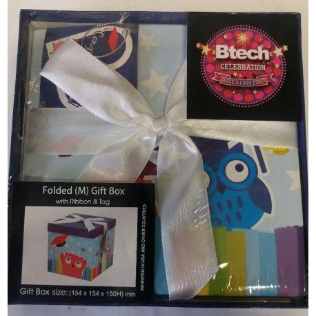Btech Összehajtható ajándék doboz masnival Baglyos M