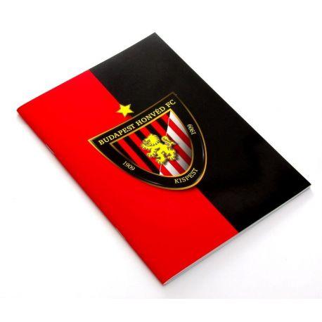 HONVÉD FÜZET, A4, VONALAS piros/fe