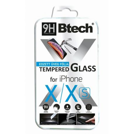 Btech Üvegfólia iPhone X/XS kijelzővédő fólia