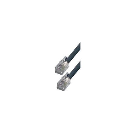 Btech 6P/4C T5-20/BK-20 méteres fekete telefon csatlakozókábel