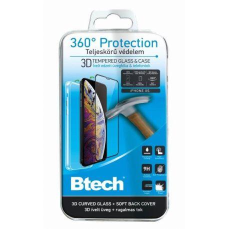 Btech iPhone XS 360°-os Védelem 3D üvegfóliával