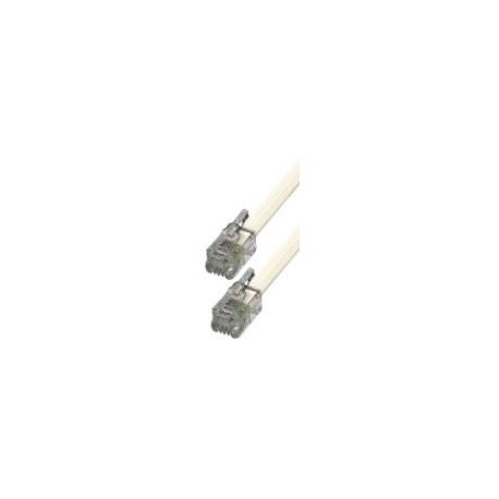 Btech 6P/4C T5-5/WH-5 méteres fehér telefon csatlakozókábel