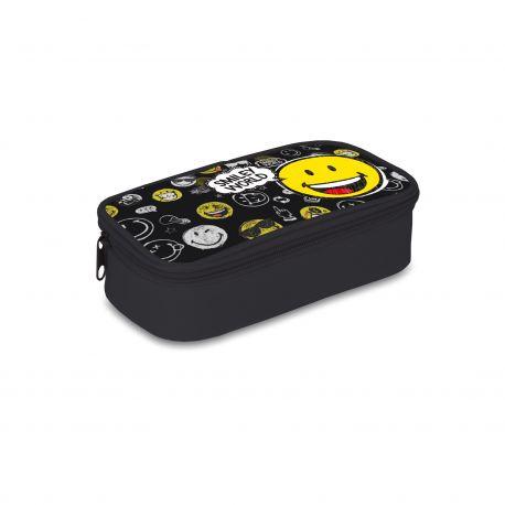 Smiley World tolltartó zsebbel fekete