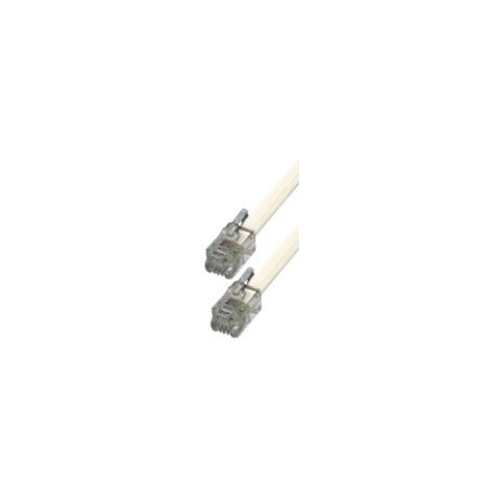 Btech 6P/4C T5-20/WH-20 méteres fehér telefon csatlakozókábel
