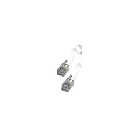 Btech 6P/4C T6-5/WH-5 méteres fehér spirál telefon kézibeszélő