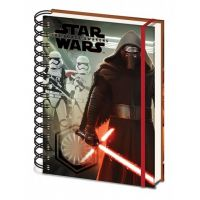 Disney Star Wars A5-ös keményborítós gumis spirálfüzet Kylo Ren rohamosztagosokkal