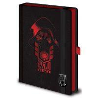 Disney Star Wars bőrkötésű gumis A5-ös prémium jegyzetfüzet Kylo Ren