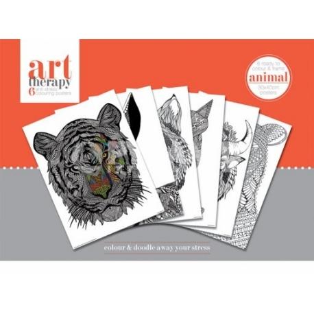 Pyramid Art Therapy színező poszter állatok