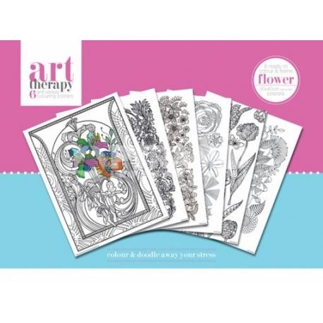 Pyramid Art Therapy színező poszter virágok