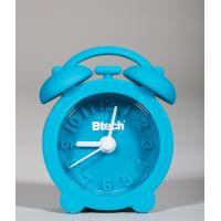 Btech mini szilikon ébresztőóra kék színben