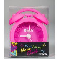 Btech mini szilikon ébresztőóra pink színben