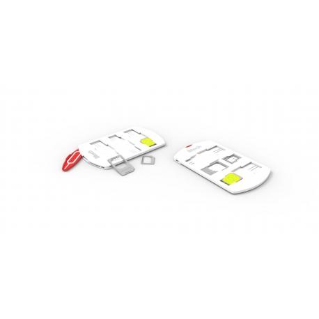 Btech BSH-7020 SIM kártya tartó és adapter, fehér
