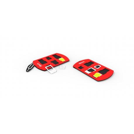 Btech BSH-7040 SIM kártya tartó és adapter, piros