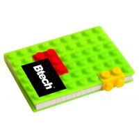 Btech A6 Zöld építőkockás füzet