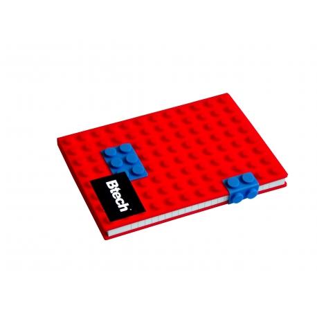 Btech A5 piros építőkockás füzet