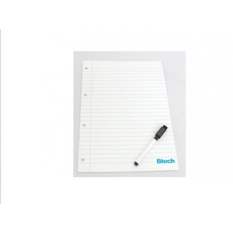Btech mágneses jegyzettábla filccel