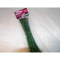 Btech Karácsonyi csillogós zseníllia rúd Zöld 24 db 30 cm