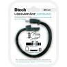 Btech Micro USB Textil Karkötő Fekete